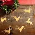 KONFETTI świąteczne Renifery 20szt ZŁOTE