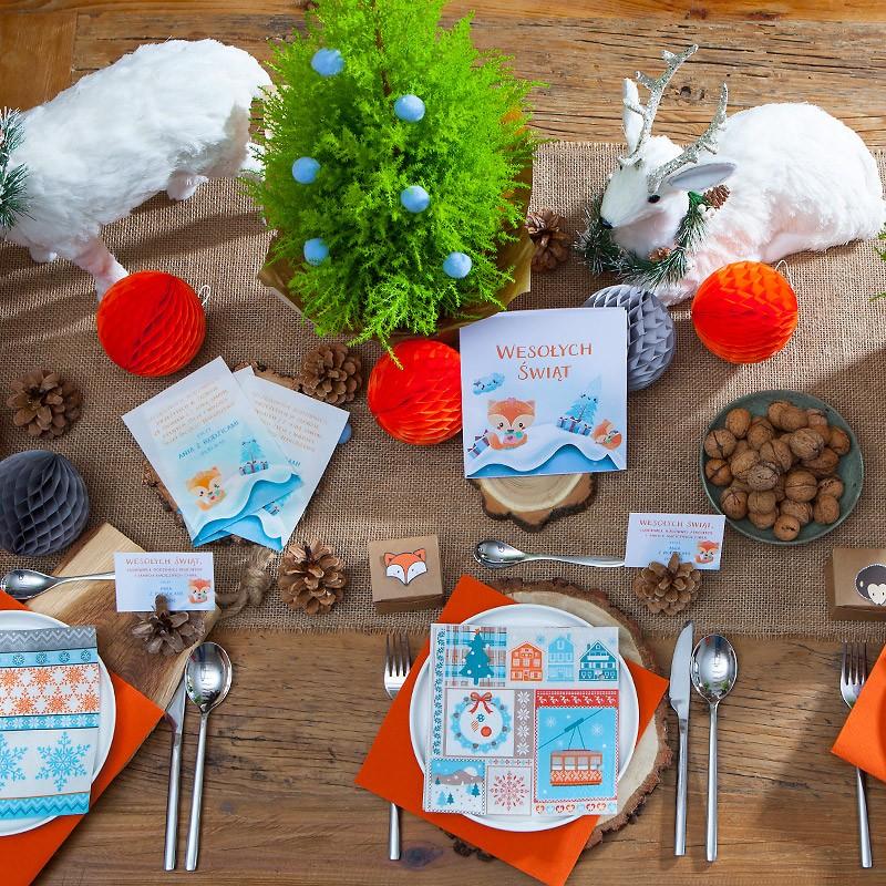 Dekoracja świątecznego stołu pomysł dla dzieci