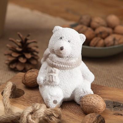 DEKORACJA świąteczna Miś siedzący 10cm