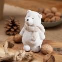 DEKORACJA świąteczna Miś stojący 10cm