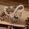 LAMPION świąteczny szklany Scandi Style
