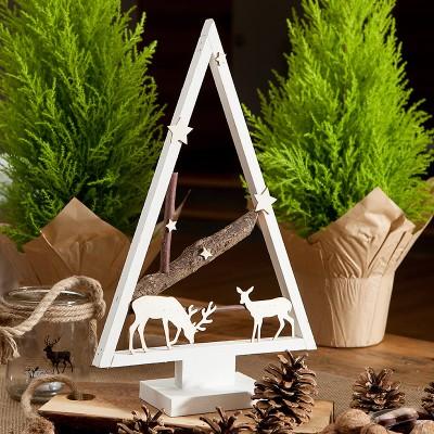 CHOINKA świąteczna drewniana DUŻA 40cm