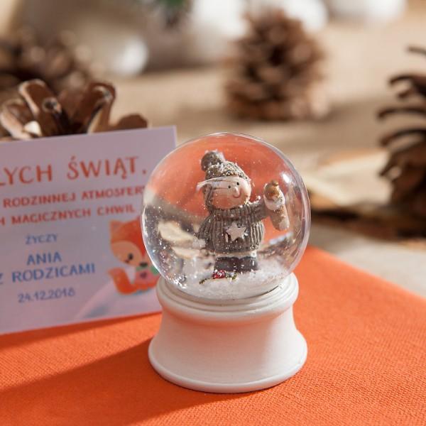 ŚNIEŻNA KULA na prezent świąteczny i do dekoracji