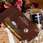 ZESTAW świąteczny w skrzyni PREMIUM Exclusive GOLD Moet, Lavazza, Lindt