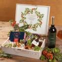 ZESTAW świąteczny firmowy w skrzyni prezent Jarzębina z miodem Z LOGO