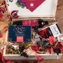 ZESTAW świąteczny w skrzyni prezent Czarna porzeczka i Chilli Z LOGO