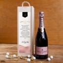 ZESTAW świąteczny firmowy Moët&Chandon Rosé Imperial w skrzyni Z LOGO