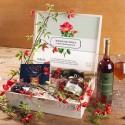 ZESTAW świąteczny firmowy w skrzyni prezent Dzika róża z miodem Z LOGO