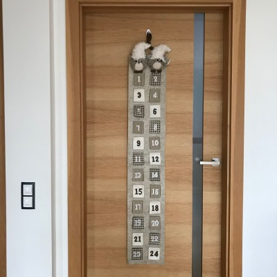 KALENDARZ ADWENTOWY z filcu Sówki MEGA 1,6m