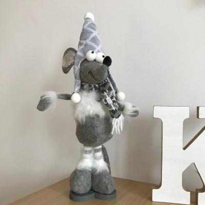 DEKORACJA świąteczna Mysz z filcu na podstawie 40cm