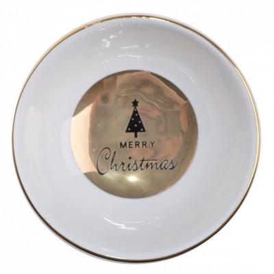 MISECZKA ceramiczna z choinką Merry Christmas