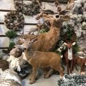 JELEŃ z brązowym futerkiem dekoracja świąteczna DUŻY 80cm