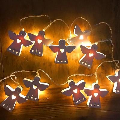 GIRLANDA świecąca świąteczna Aniołki LED
