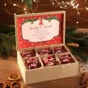 ZESTAW świąteczny firmowy w skrzyni Miodowy Czerwony Z LOGO