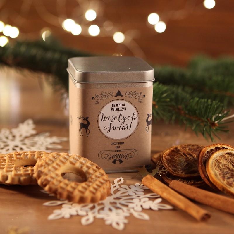 Puszka z herbatą na prezent świąteczny