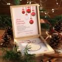 PREZENT firmowy świąteczny craft w pudełku Świąteczna Bombka Z LOGO