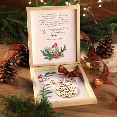 PREZENT firmowy świąteczny craft w pudełku Duch Świąt Z LOGO