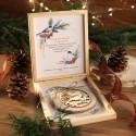 PREZENT firmowy świąteczny craft w pudełku Zimowe Ptaki Z LOGO