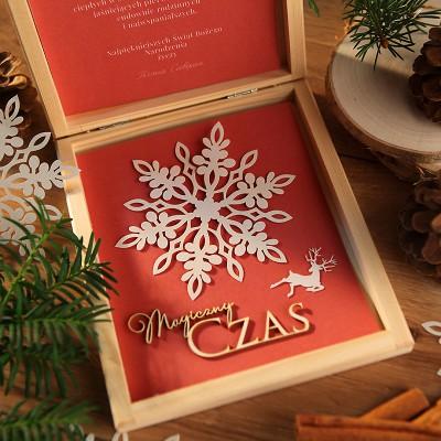 PREZENT firmowy świąteczny craft w pudełku Magiczny Czas Z LOGO