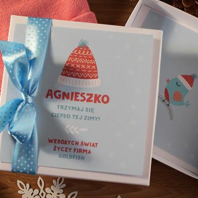 CZAPKA na świąteczny prezent firmowy Z LOGO