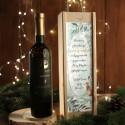 WINO W SKRZYNI 750ml jarzębinowe na prezent firmowy w drewnianej skrzyni Wykwintne Święta Z LOGO