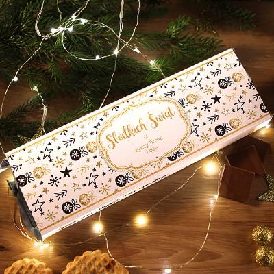 MEGA CZEKOLADA 200g w świątecznym opakowaniu Świąteczne Wzory Z LOGO