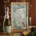 ZESTAW Z WINEM MUSUJĄCYM świąteczny firmowy w skrzyni z kieliszkiem Delikatne Święta Z LOGO