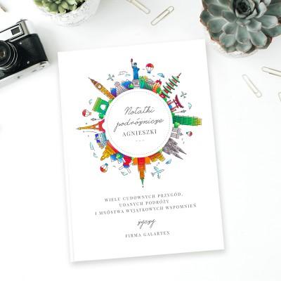 NOTATNIK PERSONALIZOWANY 200 stron na FIRMOWY prezent świąteczny PODRÓŻNIK