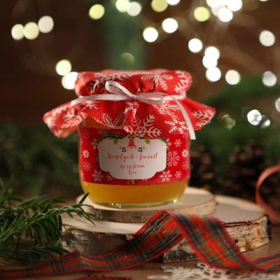 MIÓD na firmowy prezent świąteczny Czerwony Z LOGO 500g