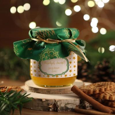 MIÓD na firmowy prezent świąteczny Zielony Z LOGO 500g