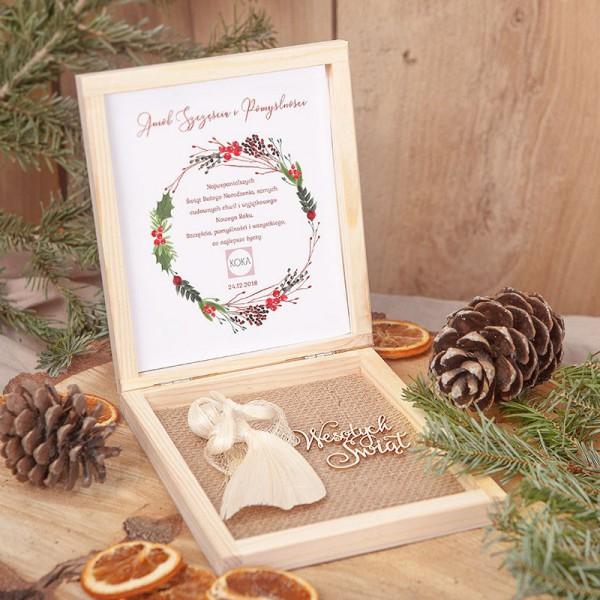 PREZENT świąteczny Anioł Szczęścia i Pomyślności Z LOGO