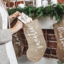 SKARPETA na prezenty świąteczne jutowa z napisem Sweetie