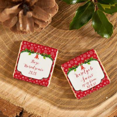 CZEKOLADKA świąteczna prezent firmowy Czerwone Święta