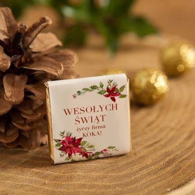 CZEKOLADKA świąteczna prezent firmowy Poinsecja