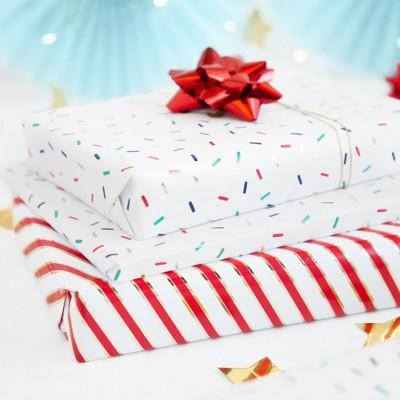 PAPIER do pakowania prezentów Posypka 0,7x2m