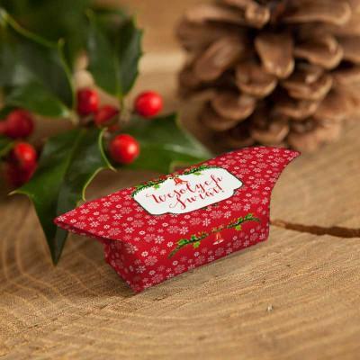 KRÓWKI świąteczne na prezent Czerwone Święta 20szt