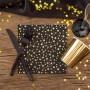 SERWETKI czarne w złote gwiazdki 33x33cm 16szt LUX