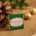 CZEKOLADKI świąteczne prezent firmowy Zielone Święta 10szt
