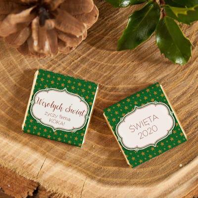 CZEKOLADKA świąteczna prezent firmowy Zielone Święta
