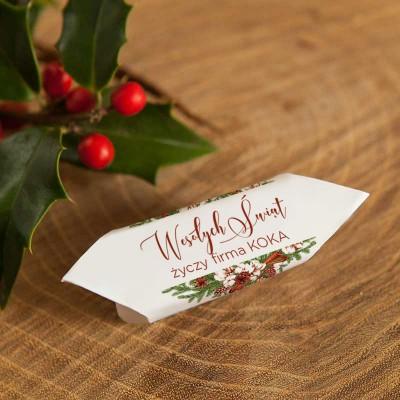 KRÓWKI świąteczne firmowe Z NAZWĄ firmy Naturalne Święta 20szt