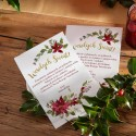 OPŁATEK z życzeniami świątecznymi firmowy Poinsecja PERSONALIZOWANY