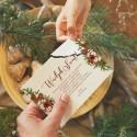 OPŁATEK z życzeniami świątecznymi firmowy Naturalne Święta PERSONALIZOWANY