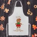 FARTUCH prezent świąteczny Z IMIENIEM Ciastek dla kobiety