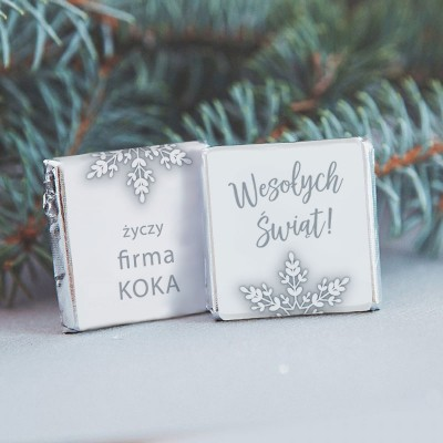 CZEKOLADKA świąteczna z nazwą firmy Snowland
