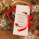 PUDEŁKO na czekoladę prezent firmowy Poinsecja (+wstążka)