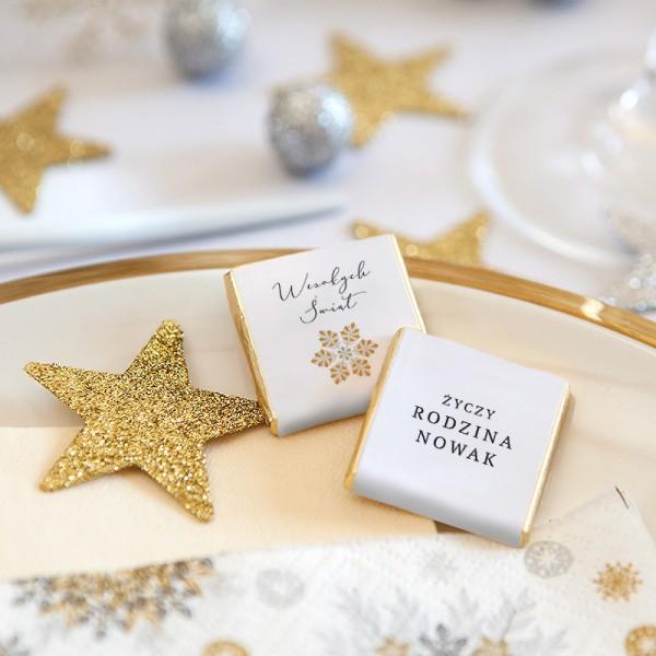 CZEKOLADKI świąteczne personalizowane Moja Gwiazdka 10szt
