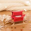 PREZENT świąteczny Sanki z krówkami Czerwone Święta