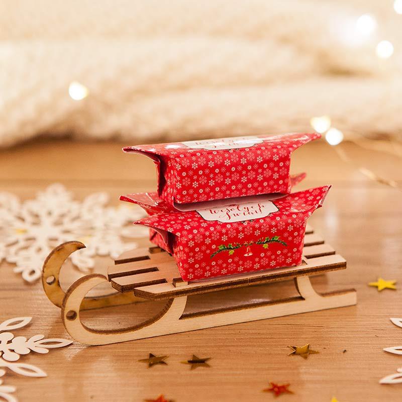 Sanki z krówkami gotowe na prezent świąteczny
