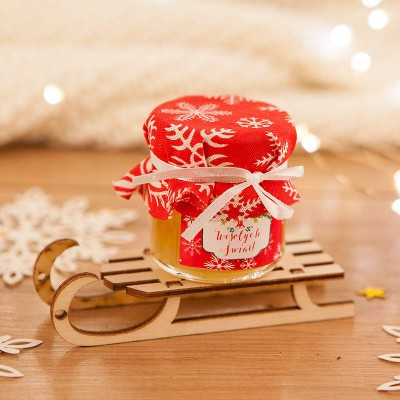 PREZENT świąteczny Miód na saneczkach Czerwone Święta