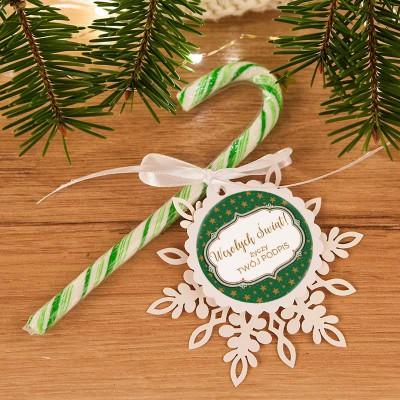LIZAK na prezent świąteczny Laska Mikołaja ZIELONA (+bilecik z Twoim podpisem)